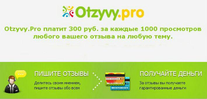 Otzyvy.pro - сервис для заработок на отзывах